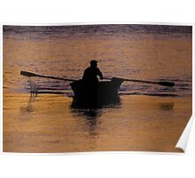 Rower on a River Poster