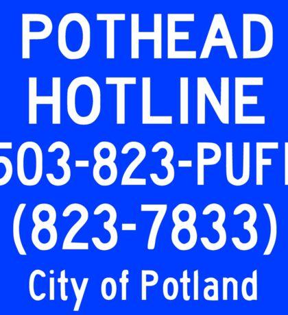 Pothead Hotline No. 6 Sticker