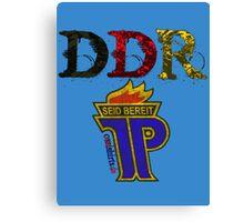 DDR - JP Emblem (black-red-gold) Canvas Print