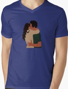 Jess Day and Nick Miller Kiss! Mens V-Neck T-Shirt