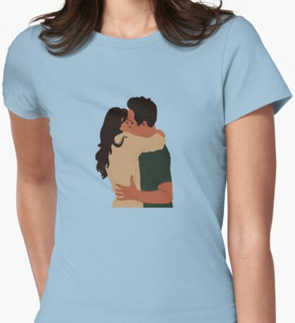 Jess Day and Nick Miller Kiss! Womens Fitted T-Shirt