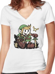 Vintage Link Women's Fitted V-Neck T-Shirt