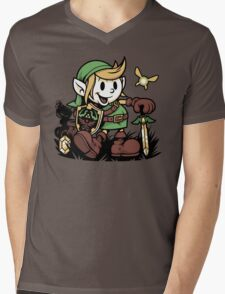 Vintage Link Mens V-Neck T-Shirt