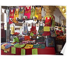 Colorful Aprons, Cloth Shopping Bags, Pike's Public Market Poster