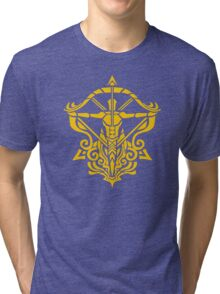 Zodiac Sign Sagitarius Gold Tri-blend T-Shirt