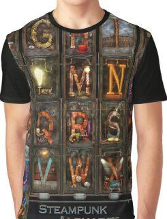 Steampunk - Alphabet - Complete Alphabet Graphic T-Shirt
