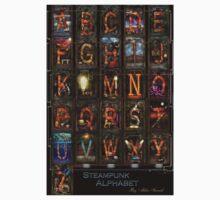 Steampunk - Alphabet - Complete Alphabet One Piece - Short Sleeve