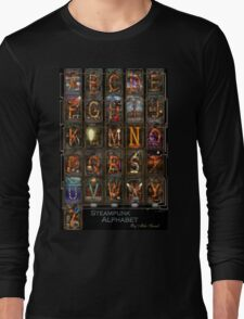 Steampunk - Alphabet - Complete Alphabet Long Sleeve T-Shirt