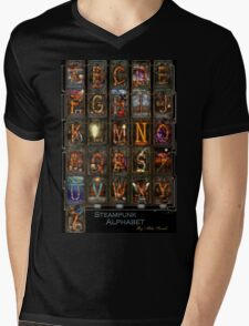 Steampunk - Alphabet - Complete Alphabet Mens V-Neck T-Shirt
