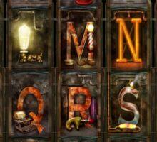 Steampunk - Alphabet - Complete Alphabet Sticker