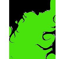 Inky Woman Photographic Print