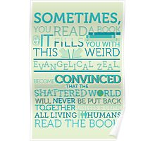 tfios - Sometimes you read a book... Poster