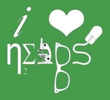 I Love Nerds - Symbols One Piece - Short Sleeve