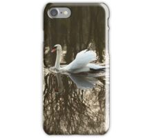 swan and bare trees iPhone Case/Skin