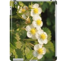 strawberry blossoms with dew iPad Case/Skin