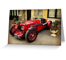Rare Aston Martin. Greeting Card
