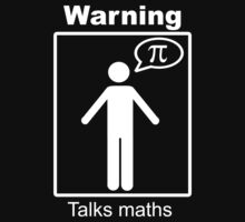Warning: Talks maths (white, trousers) by Sophie Baer