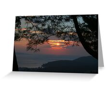 January Sunset, Akyaka Greeting Card