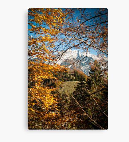 Swiss Autumn Afternoon Canvas Print