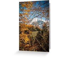 Swiss Autumn Afternoon Greeting Card