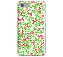 Christmas Branch + Berries iPhone Case/Skin