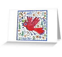 The Bird That Wore A Crown Greeting Card