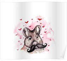Mouse Moustache Poster