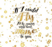 If I Could Fly - Gold by cafegratitude