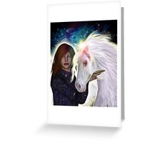 Angel and Unicorn Greeting Card