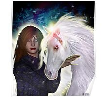 Angel and Unicorn Poster