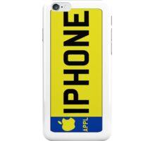 iPhone Numberplate iPhone Case/Skin