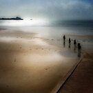 Morning Ride, St Aubin's Bay, Jersey by Nicky Stewart