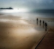 Morning Ride, St Aubin's Bay, Jersey by Nicky Stewart