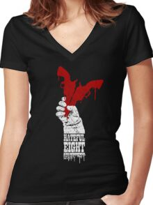 Blood, Snow & Hate Women's Fitted V-Neck T-Shirt