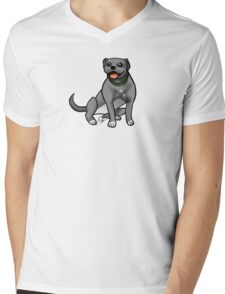 Pitbull - Gray Mens V-Neck T-Shirt