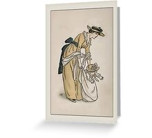 Greetings-Kate Greenaway-Mother with Toddler Greeting Card