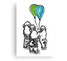 Balloon Puppies Canvas Print