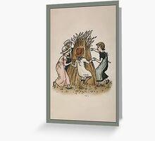 Greetings-Kate Greenaway-Autumn Children Greeting Card