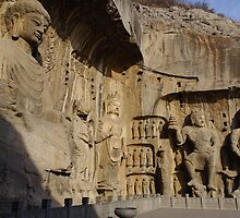 China - Fegxian Si, Longmen Grottoes by Derek  Rogers
