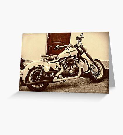 Vintage Harley Greeting Card