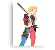 Harley Quinn Mash Up Canvas Print