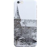 church in the snow iPhone Case/Skin