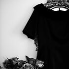 ...roses......black dress.......black/white version by Jane Anastasia Studio