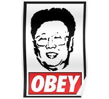 Kim Jong Il Obey Poster