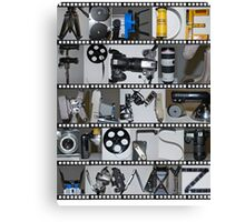 Photography/Film Alphabet Canvas Print