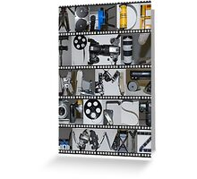 Photography/Film Alphabet Greeting Card