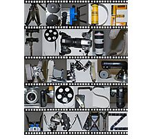 Photography/Film Alphabet Photographic Print