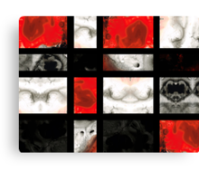 Modern Red And Black Blocks - Abstract Painting Canvas Print