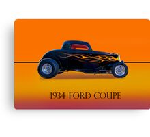 1934 Ford Coupe - Profile w/ID Canvas Print