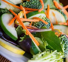 Fresh Vegetable Salad on Angle by dbvirago